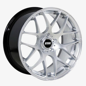 19x8 5 Vmr Rims V710 Custom Et45 Hyper Silver Wheels set Of 4
