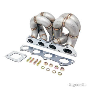 Rev9 Hp Ram Horn Equal Length T3 Turbo Manifold Ac For Civic Crx Integra B16 B18