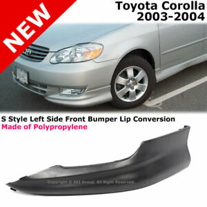 Toyota Corolla S Style Front Driver Lower Body Kit Lip Spoiler Pp Black 03 04