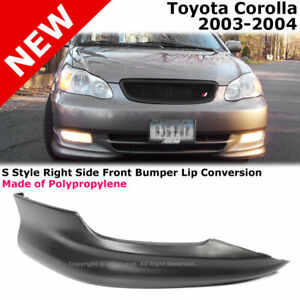 Toyota Corolla 03 04 S Style Front Passenger Lower Body Kit Lip Spoiler Pp Black