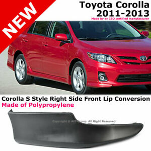 Toyota Corolla 11 13 S Style Front Passenger Lower Body Kit Lip Spoiler Pp Black