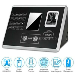 Danmini Time Clock Face Verify Facial Recognition Time Attendance System G9t7