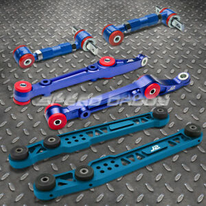 J2 Powder Coated Front Rear Lower Control Arm Camber Kit 96 00 Civic Ej6 8 Blue