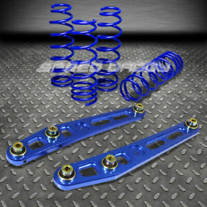 1 75 Lowering Spring Lower Control Arm Rods Kit 92 95 Honda Civic Integra Blue