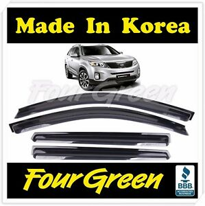 Smoke Window Sun Vent Visor Rain Guards 4p For Kia 2010 2013 2014 Sorento