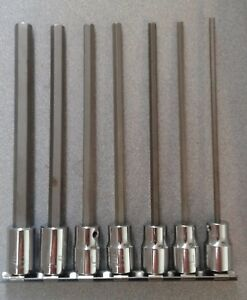 7pc Urrea 3 8 Hex Bit Socket Long Standard Set 4990 7l