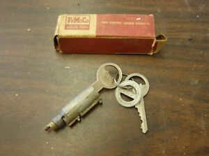 Nos Oem Ford 1947 1948 Luggage Compartment Lock Trunk Cylinder Keys