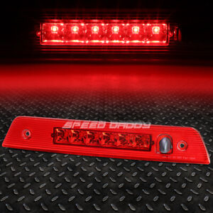 For 05 10 Jeep Grand Cherokee Red Housing Third 3rd Tail Brake Led Light Lamp