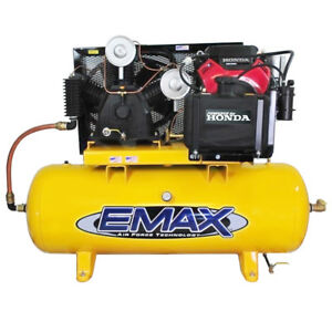 Emax Eges24120t 24 Hp 120 gallon Truck Mount Air Compressor With Gas Tank