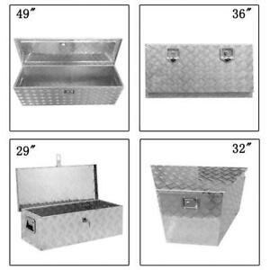 24 29 32 36 49 Aluminum Tool Box Truck Trailer Rv Underbody Storage Boxes