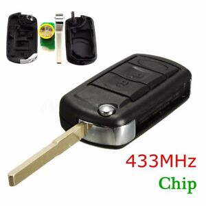 3 Button Flip Remote Key Fob W 46 Chip 433mhz For Range Land Rover Discovery 3