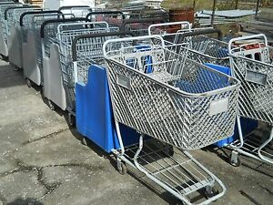 Shopping Carts With Special Child Seating Commercial Retail Store