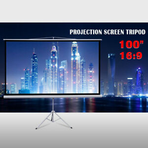 New Tripod Portable Projector Projection Screen Matte White