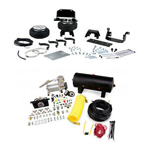 Air Lift Rear Control Air Spring Dual Air Compressor Kit For Ram 3500 2500 4wd