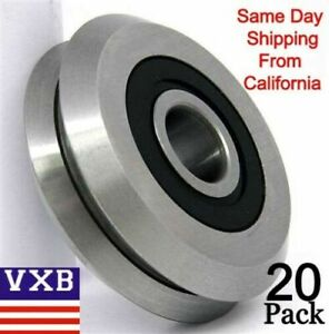 20 Pieces Rm2 2rs 3 8 Inch Track Bearing V Groove Rubber Sealed 0 375 2 Days