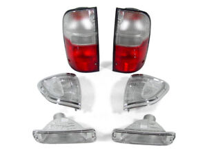 6pc Depo Red clear Tail Corner Bumper Lights For 1995 1997 Toyota Tacoma 4wd