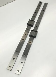 Lot Of 2 Thk Srs12wm Linear Motion Ball Bearing Carriage On 550mm Rail 5 4kn