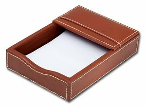 Dacasso Rustic Brown Leather Memo Holder 4 inch By 6 inch
