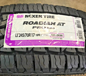 4 New Lt 245 70 17 Lre 10 Ply Nexen Roadian At Pro Ra8 Tires