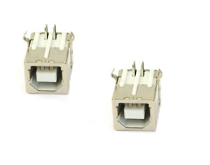 2pcs Usb Type B Female Right Angle Port Connector For Solder Pcb Printer