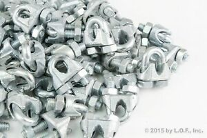 100 Wire Rope Clip Clamp Galvanized Zinc Plated Chain M3 3mm 1 4 New