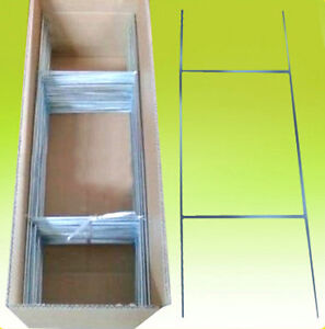 25 Of 10x30 Yard Sign Stakes Holder Corrugated H wire Step Stands Wholesale