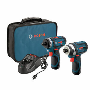 Bosch Clpk27 120 12 volt Max Lithium ion Drill And Impact Driver Combo Kit
