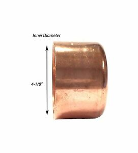 Libra Supply 4 Inch 4 4 inch Copper Pressure Sweat Cap Copper Pipe Fitting
