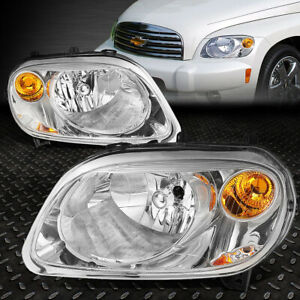 For 2006 2011 Chevy Hhr Pair Chrome Housing Amber Corner Bumper Headlight lamp
