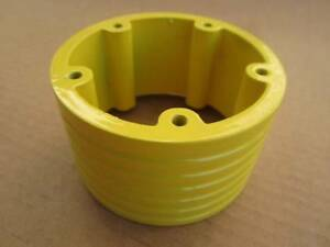 2 Billet Extension Grant Apc Steering Wheel 3 5 Hole Hub Adapter Spacer Yellow