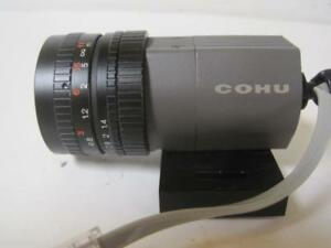 Cohu Ccd Camera With Lens 0 5 5m 1 3 15ft W Fphgr3 25 Pin Female Connector