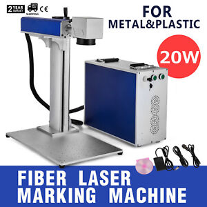 20w Fiber Laser Marking Machine Metal Engraver Metal And Non metal Faster Vevor