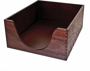Carver Double Deep Wood Desk Tray Letter Size 13 25 X 11 X 5 25 Inches Finish