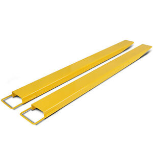 2pcs Forklift Extensions Fit 5 5 Width 60 72 84 96 Pallet Firmly Retaining