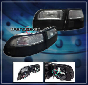 For 1992 1995 Civic Hatchback 3dr Tail Brake Light Lamp Jdm Smoke Lens 1993 1994