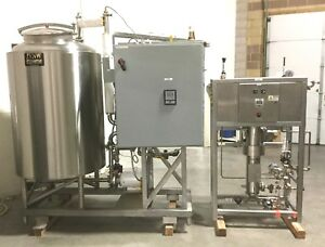 Cip Clean In Place Steam Heated Sterile Stainless Steel 7 5hp 300g Tank System