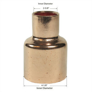 Libra Supply 4 X 2 1 2 Inch Copper Pressure Coupling Bell Reducer Cxc