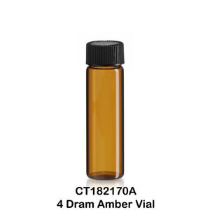 50 Amber Glass Vials W Screw Caps 21 X 70 Mm 4 Dram 1 2 Oz 15 Ml