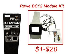 Rowe Bc12 1 20 Dollar Bill Changer Update Kit Install A 24v Mars Mei Acceptor