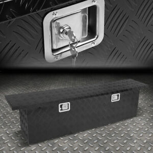 60 x12 x15 5 black Aluminum Pickup Truck Trunk Bed Tool Box Trailer Storage lock