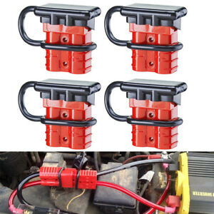 4x 50a Battery Quick Connect Disconnect Wire Harness Plug Connectors For Trailer