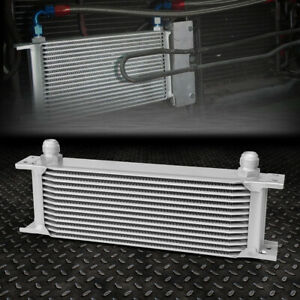 Universal 13 row 10an Coolant transmission engine Oil Cooler Extra Radiator Kit