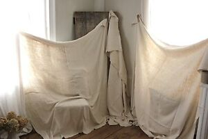 Vintage Sheets French Linen Soft 3 Matching Upholstery Fabric Linen Old