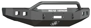 Road Armor 608r4b Front Black Steel Pre Runner Guard Winch Bumper For 08 10 F250