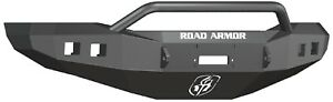 Road Armor 406r4b Front Black Pre Runner Guard Winch Bumper For 06 09 Ram 2500
