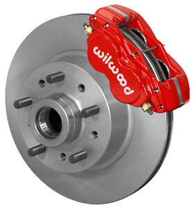 Wilwood Disc Brake Kit Front Pinto Mustang Ii 11 1 Piece Rotors Red Calipers