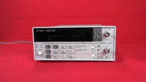 Hp agilent 53181a 030 Rf Frequency Counter 10 Digit sec 3ghz Frequency Range