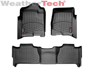 Weathertech Floorliner Floor Mats For Tahoe yukon yukon Xl 1st 2nd Row Black