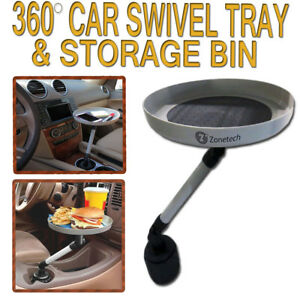 Zone Tech Car Swivel Mount Holder Travel Cup Coffee Table Stand Food Tray