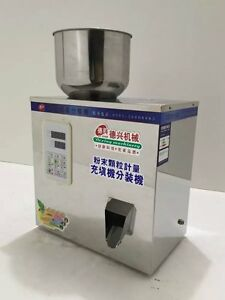 220v 1 50g Automatic Particle Filling Machine For Tea Seed Grain Weigh Filler